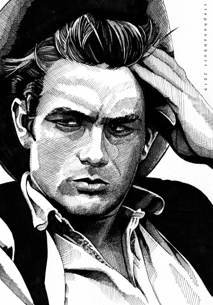 James Dean por Stefanosart